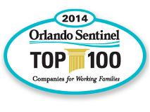 2014 Orlando Sentinel Top 100. Companies for Working Adults.