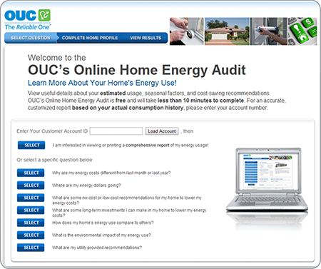 OUC's Online Home Energy Audit