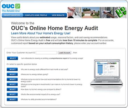 Auditoría de OUC en línea de electricidad residencial