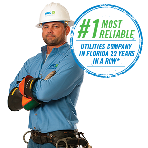 Number one most reliable utilities company in Florida 18 years in a row