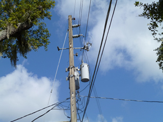 Cables aéreos de alta tensión